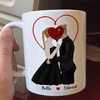 The Happiness - Personalized Custom Coffee Mug - Valentine Gifts For Him