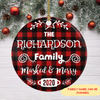 Masked & Merry - Personalized Ceramic Christmas Ornaments
