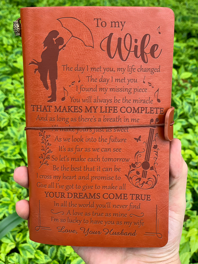 You Make My Life Complete - Vintage Journal - Gift For Wife
