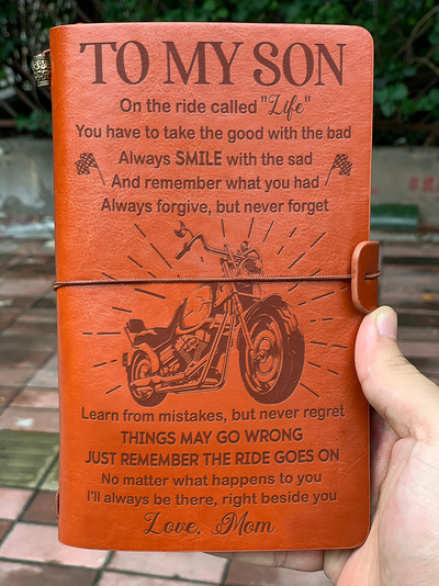 SON MOM - THE RIDE GOES ON - VINTAGE JOURNAL