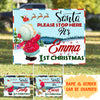 My First Christmas – Personalized Custom Yard Sign – Christmas Yard Sign