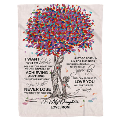 DAUGHTER MOM - NEVER LOSE - FLEECE BLANKET