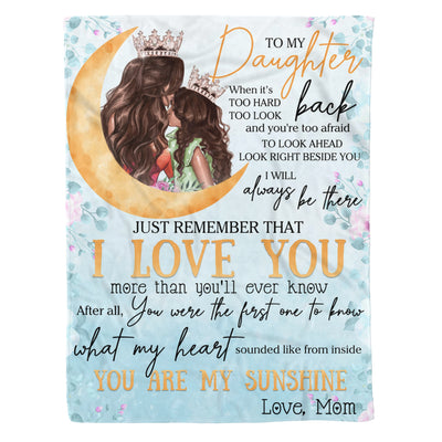 DAUGHTER MOM - ALWAYS BE THERE - FLEECE BLANKET