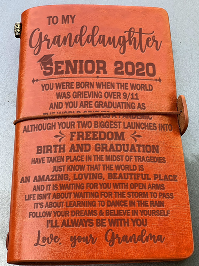 GRANDDAUGHTER GRANDMA - SENIOR 2020 - DANCE IN THE RAIN - VINTAGE JOURNAL