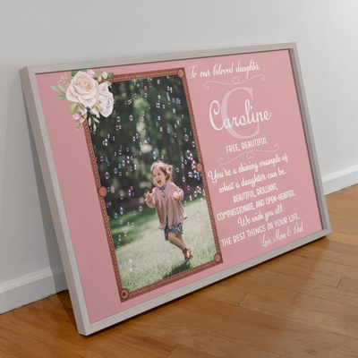 Daughter's Name Meaning - Personalized Custom Photo Canvas - Gift For Daughters
