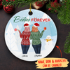 Besties Forever - Personalized Ceramic Christmas Ornaments