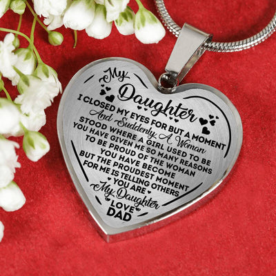 DAUGHTER DAD - PROUD - NECKLACE/BANGLE