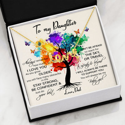 DAUGHTER DAD - TO INFINITY AND BEYOND - SCRIPTED LOVE NECKLACE