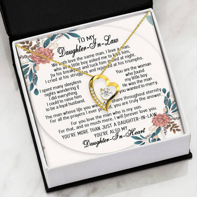 To My Daughter In Law - You Are Truly The Answer 2 - Forever Love Heart Necklace