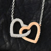 DAUGHTER - ALWAYS SPARK LIKE A STAR - INTERLOCKING HEARTS NECKLACE