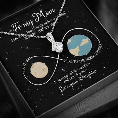 Because You Are Here - Alluring Necklace - Gifts For Mom