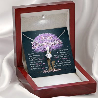 For The Child Of My Child - Alluring Beauty Necklace - Gifts For Granddaughter From Grandma