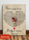 When I pray for you - Personalized custom canvas - Home Decorations
