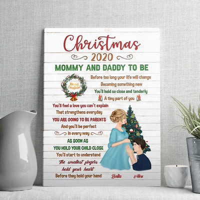 Parents To Be - Personalized Custom Canvas - Pregnancy Gifts
