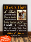Personalized custom canvas - Family canvas - Where life begins and love never ends - 6922