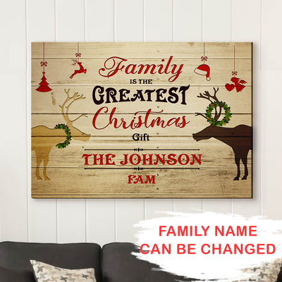 Greatest Christmas Gift - Personalized Custom Canvas