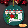 The Year We Stayed Home - Personalized Ceramic Christmas Ornaments