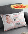 Baby's Milestone Pillow - Personalized Custom Photo Pillow