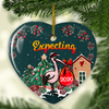Expecting - Ceramic Christmas Ornaments