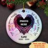 Your Wings Were Ready - Personalized Photo Circle Ceramic Ornament - Memorial Gift