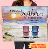 And so together we built a life we love - Personalized custom canvas - Home decor, Wall art