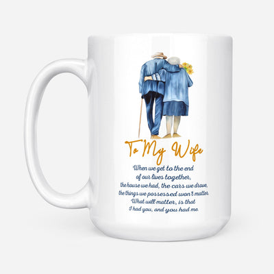 TO MY WIFE - TOGETHER - WHITE MUG