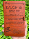 DAUGHTER MOM - BELIEVE IN YOURSELF - SENIOR 2020 - VINTAGE JOURNAL
