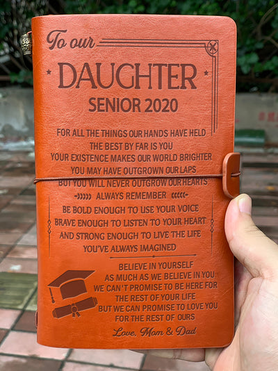 DAUGHTER MOM AND DAD - BELIEVE IN YOURSELF - SENIOR 2020 - VINTAGE JOURNAL