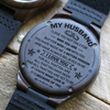 I LOVE YOU HUSBAND - WOOD WATCH -  ANNIVERSARY GIFTS, BIRTHDAY GIFTS