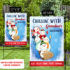 Chillin' With Grandma's Snowmies - Personalized Custom Garden Flag