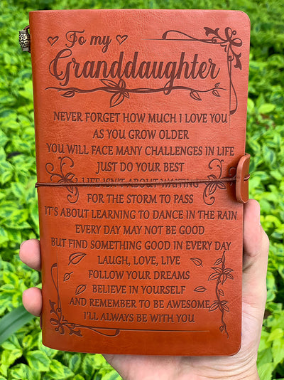 To granddaughter - Never forget how much I love you - Vintage Journal