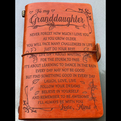 GRANDDAUGHTER MIMI- NEVER FORGET HOW MUCH I LOVE YOU - VINTAGE JOURNAL