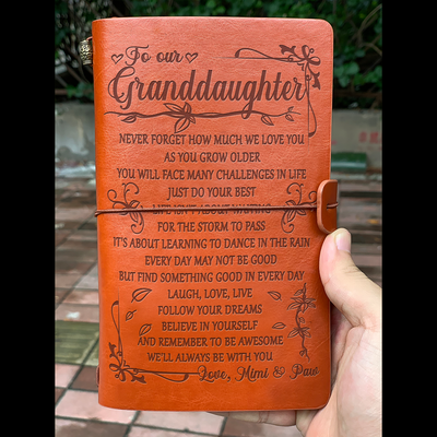 GRANDDAUGHTER MIMI AND PAW- NEVER FORGET HOW MUCH I LOVE YOU - VINTAGE JOURNAL