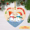 Love Never Melts - Personalized Ceramic Christmas Ornaments