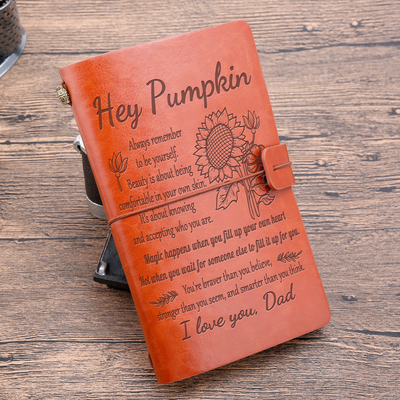 PUMPKIN - DAD - BE YOURSELF - VINTAGE JOURNAL