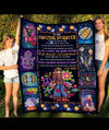 Be positive, regret nothing - To my daughter fleece blanket -  Hippie blanket