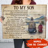 Believe in yourself - Personalized Custom Canvas - Sentimental Gifts For Son