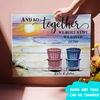 And so together we built a life we loved - Personalized custom canvas - Home decor, Wall art - 7722