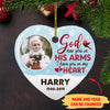 God Has You - Personalized Ceramic Christmas Ornaments - Memorial Photo Custom Ornaments