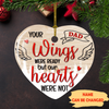 Your Wings Were Ready But Our Hearts Were Not – Personalized Custom Memorial Ornaments