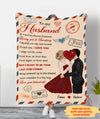 Letter to husband - Personalized Custom Fleece Blanket - Valentien Gifts For Husband