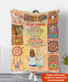 A Truly Great Hippie Friend - Personalized Custom Fleece Blanket