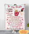 In my heart - Personalized Custom Fleece Blanket, Friendship Gifts