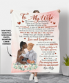 Love And Laughter - Personalized Custom Photo Fleece Blanket, Mom-to-be Gifts From Husband