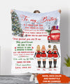 Christmas Bestie - Personalized Custom Fleece Blanket - Gift for Best Friends