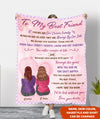 Through the years - Personalized Custom Fleece Blanket - Friendship gifts
