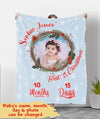 Baby's First Christmas - Personalized Custom Photo Fleece Blanket