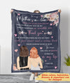Thank You To Mom-in-law - Personalized Custom Fleece Blanket
