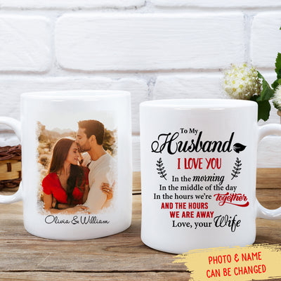 In The Hours We Are Together - Personalized Custom Photo Mug