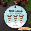 Reindeer Family - Personalized Ceramic Christmas Ornaments - Family Christmas Gifts